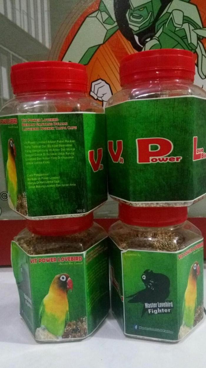 Jual Vit Power Lovebird Pakan Lovebird Lomba Kemasan Botol Toples Plastik Jakarta Timur Fauna Care