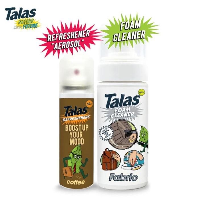 Talas Foam Cleaner Fabric (Pembersih) & Talas Refreshener Aerosol Coffee (Pengharum) - Blanja.com