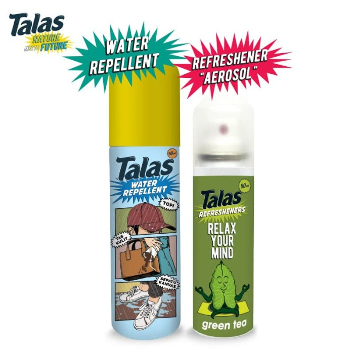 New Talas Water Repellent (Pelindung Anti Air) & Talas Refreshener Aerosol Green Tea (Pengharum) - Blanja.com