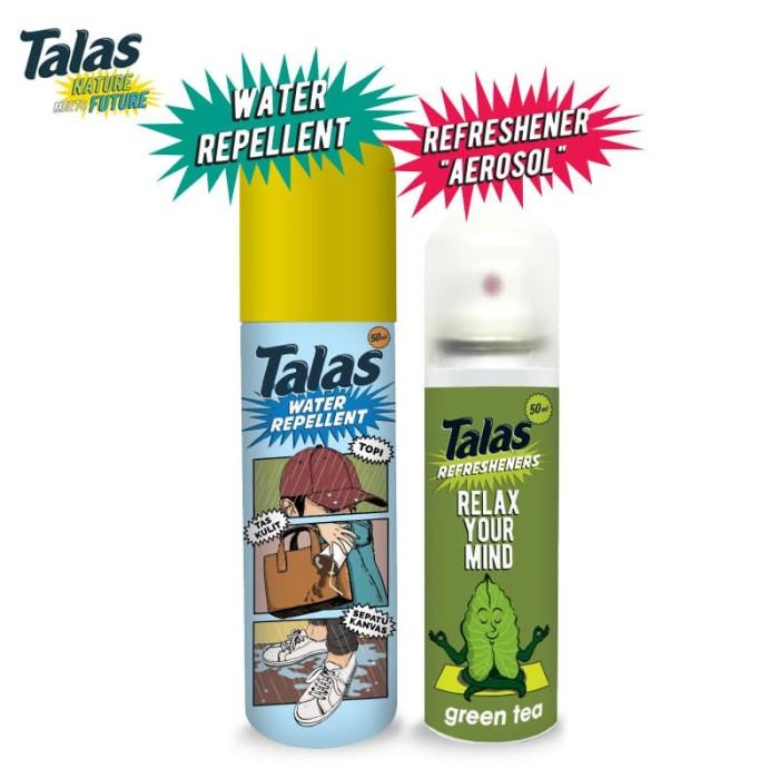 New Talas Water Repellent (Pelindung Anti Air) & Talas Refreshener Aerosol Green Tea (Pengharum)