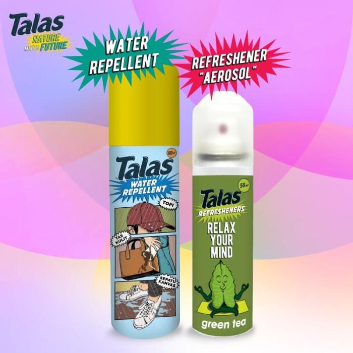 New Talas Water Repellent (Pelindung Anti Air) & Talas Refreshener Aerosol Green Tea (Pengharum) - Blanja.com