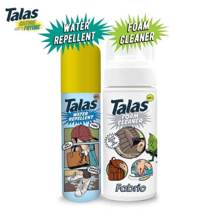 New Talas Water Repellent & Talas Foam Cleaner Fabric - Blanja.com