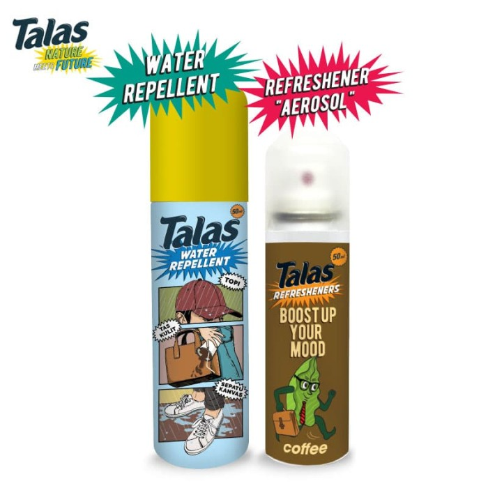 New Talas Water Repellent & Talas Refreshener Aerosol Coffee (Pengharum) - Blanja.com