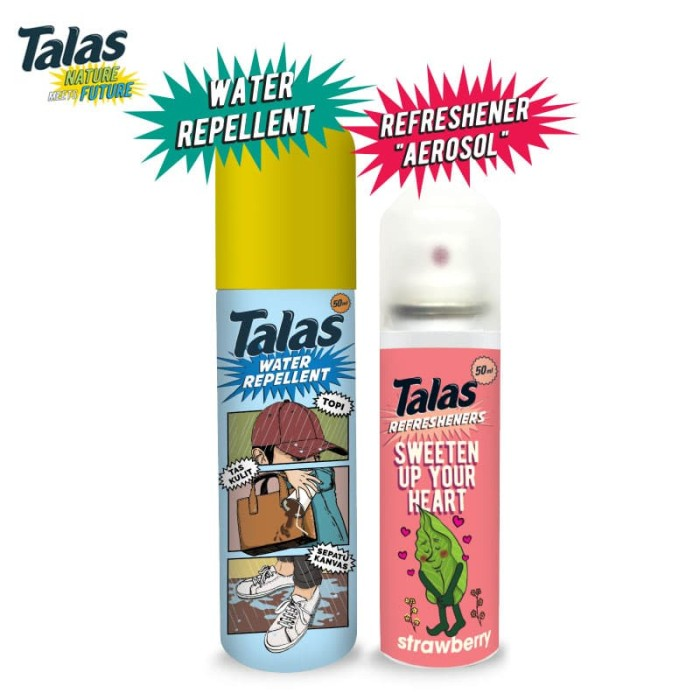New Talas Water Repellent (Pelindung Anti Air) & Talas Refreshener Aerosol Strawberry (Pengharum) - Blanja.com