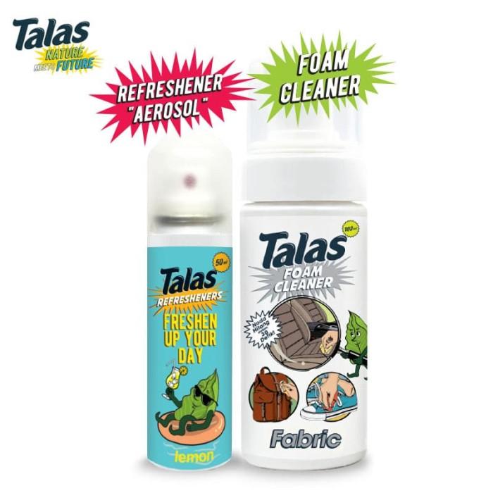 Talas Foam Cleaner Fabric (Pembersih) & Talas Refreshener Aerosol Lemon (Pengharum) - Blanja.com