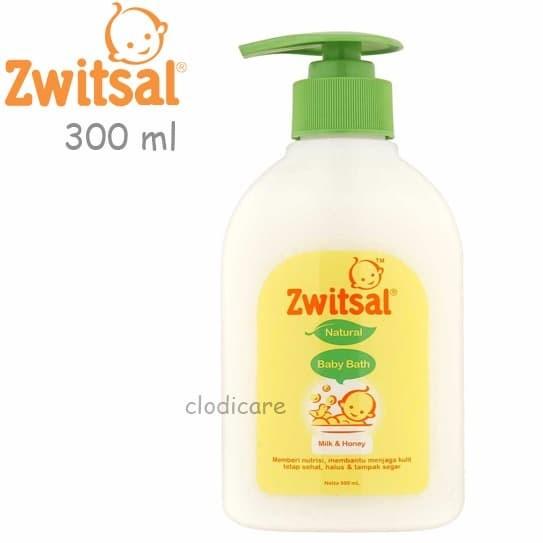 harga Zwitsal natural baby bath milk & honey 300ml pump Tokopedia.com