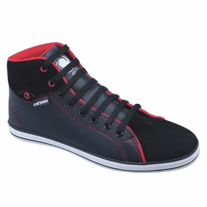 Jual jual Sepatu Pria Sneakers Kets Boots Sekolah Hitam Keren Harga ... dceb13a9af