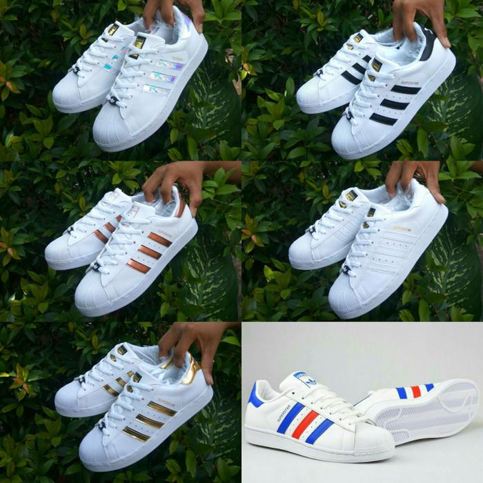 uk store later wholesale price Jual Adidas Superstars size 36 - 40 sepatu wanita sneakers rainbow import -  Rose Gold, 37 - DKI Jakarta - eno ajjh | Tokopedia
