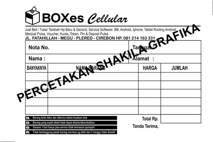 Jual Nota Kwitansi Surat Jalan Tanda Terima Dan Lain Lain Kota Cirebon Abzzahra Tokopedia
