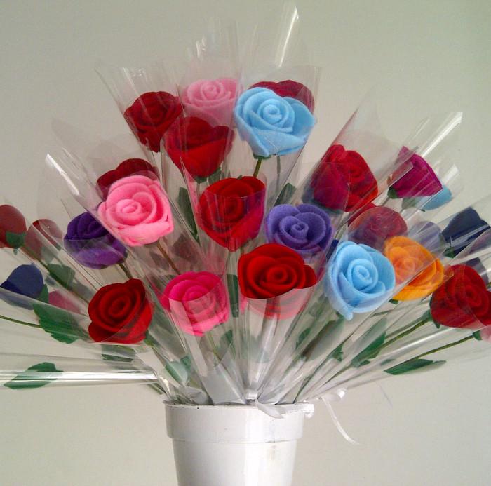 Bunga Mawar Tangkai Kemas Plastik Mawar Flanel Setangkai - Daftar ... 4ce0d0621e