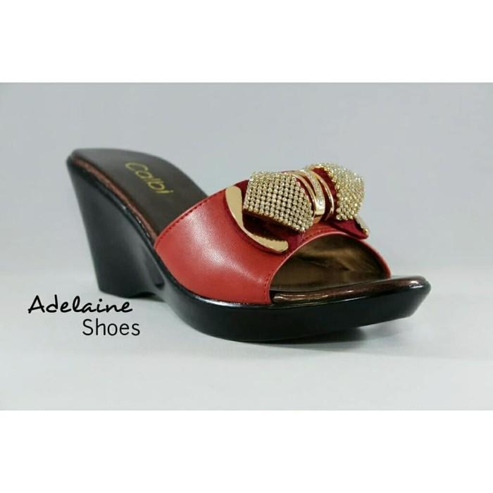 ... harga Sandal wedges wanita pesta calbi dem 1411 mewah elegan dan ringan  Tokopedia.com 86a630d2eb