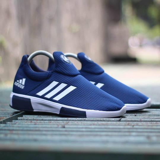 Adidas nmd slop slip on navy   biru sepatu pria wanita jalan-jalan harga ... c555155ffe