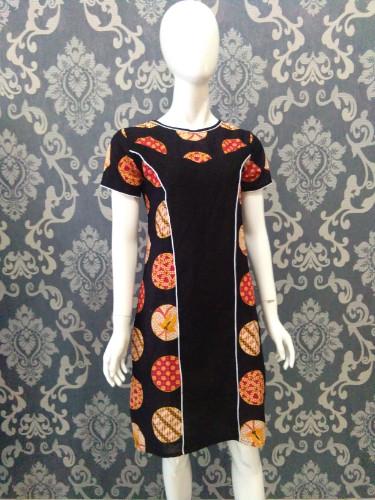 Jual Dress batik kekinan tml105 - Merah 5f07819b01