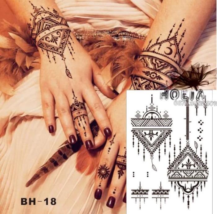 Temporary tattoo arabian henna - mendhi tato - tattoo murah bh-18