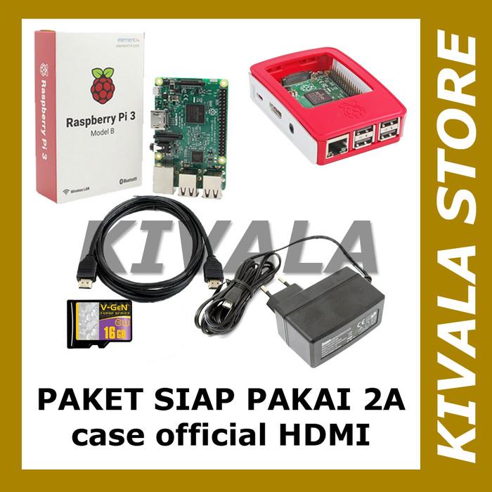 harga Paket raspberry pi 3 - adaptor 2a - case official - hdmi Tokopedia.com