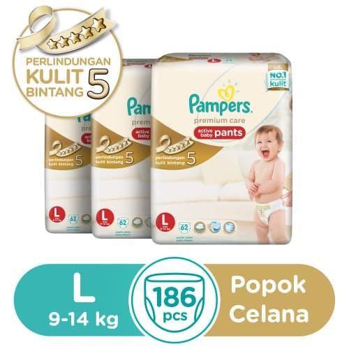 harga Pampers popok premium care pants l 62's karton isi 3 Tokopedia.com