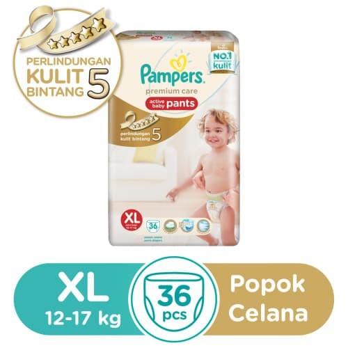 harga Pampers popok premium care pants xl 36's Tokopedia.com