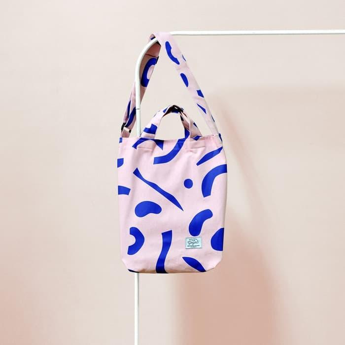 Canvas bag (free serene product) - merah muda