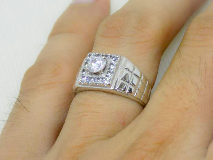 harga Cincin emas putih pria cowok mas perhiasan 375 original gold ellegan Tokopedia.com