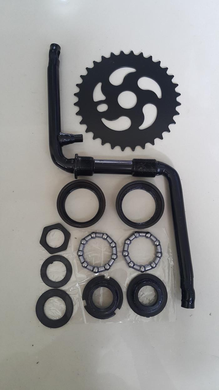 harga Crank set gear tengah gir langsung sepeda 20 bmx 1 set Tokopedia.com