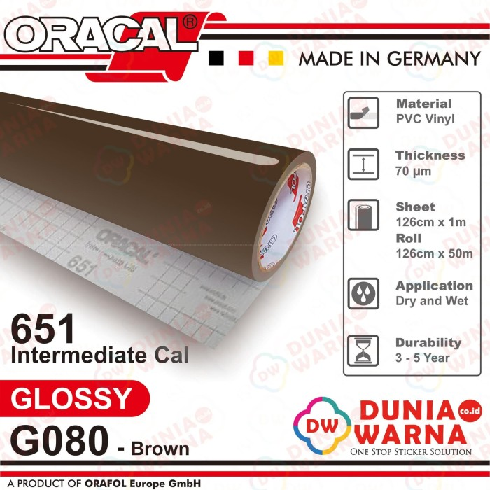 harga Sticker oracal 651 080 brown gloss/matte(doff) meteran cutting stiker Tokopedia