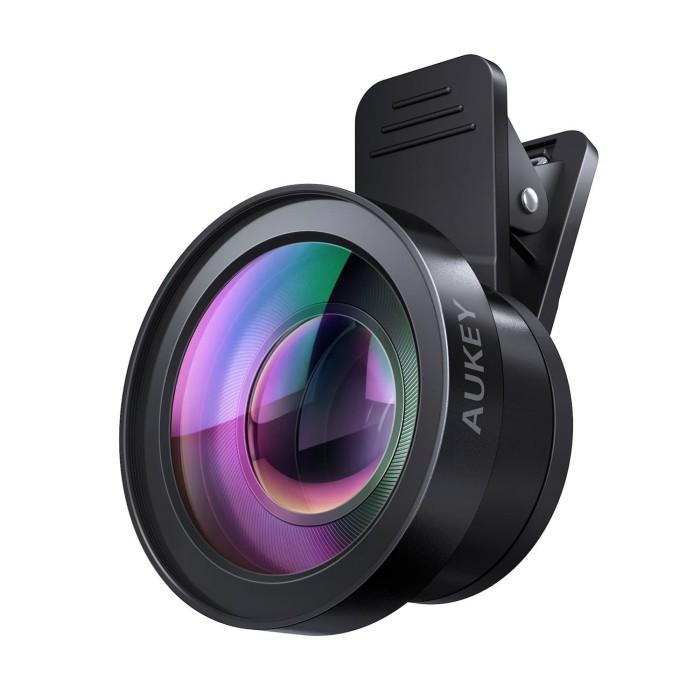 harga Aukey pl-wd06 ora camera lens 0.45x 120 degree wide angle n 15x macro Tokopedia.com