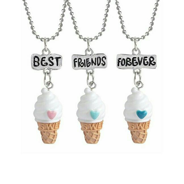 harga Kalung best friend forever varians ice cream Tokopedia.com
