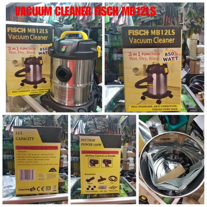 harga Vacuum cleaner fisch wet & dry - alat sedot debu - fisch mb12ls Tokopedia.com