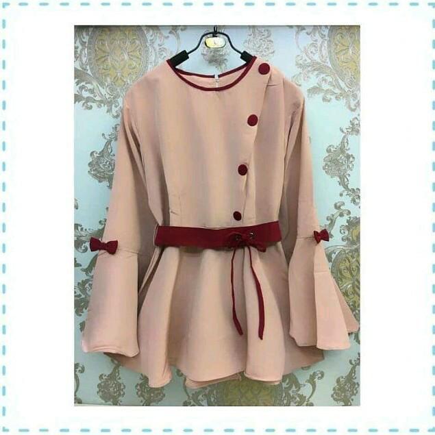 harga Melinda blouse ad- baju atasan kerja blouse tunik kemeja wanita Tokopedia.com