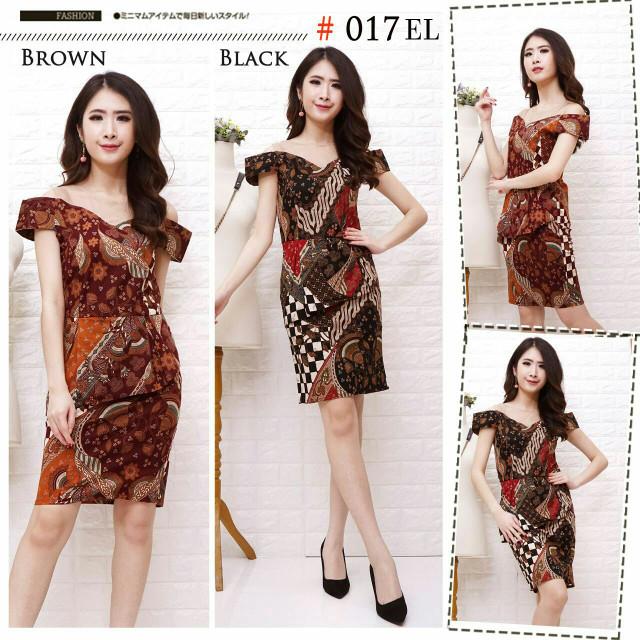 harga Ga dress batik 017 el Tokopedia.com