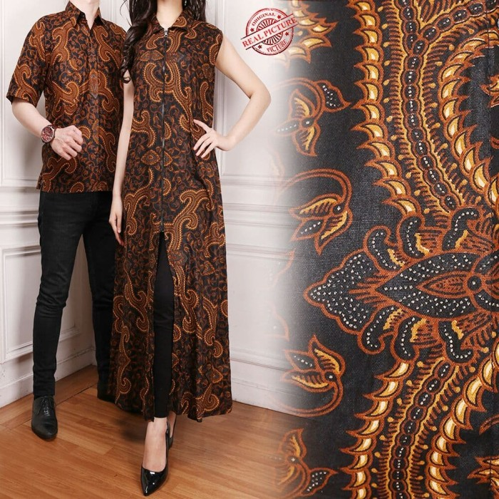 harga Kia couple blazer 2in1 batik dress maxi panjang dan kemeja pria m - xl Tokopedia.com