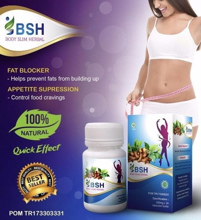 Bsh/ Body Slim Herbal/Body Slim Capsules/ Gmp Slimming/ New Segel