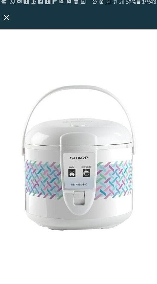 Sharp Rice Cooker Ks-N18Me-C Penanak Nasi Hot