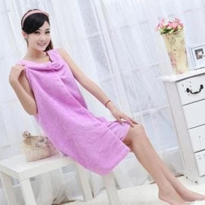 Wearable Towel Dress Baju Handuk Multifungsi Kimono Towel Import