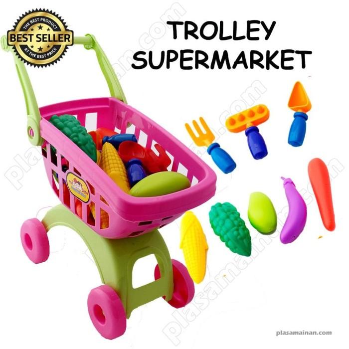 harga Mainan keranjang belanja st003 - mainan trolly supermarket Tokopedia.com