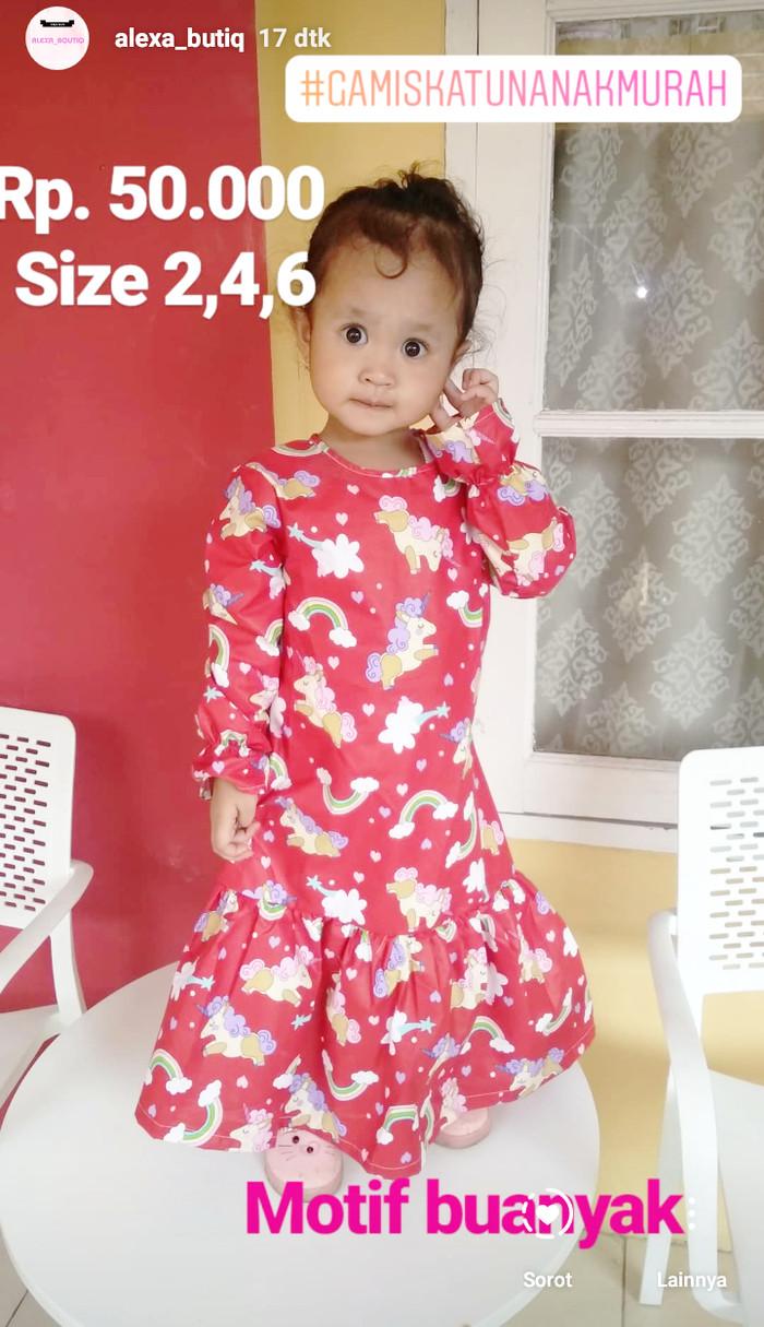 Jual Gamis Katun Anak Baju Muslim Dress Tanpa Jilbab