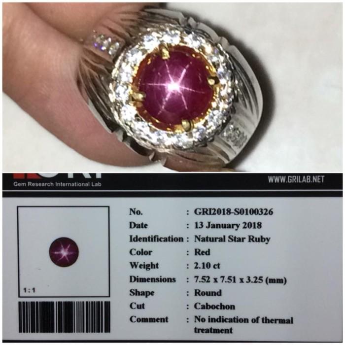 harga Natural red ruby # batu merah delima ada star birma burma Tokopedia.com