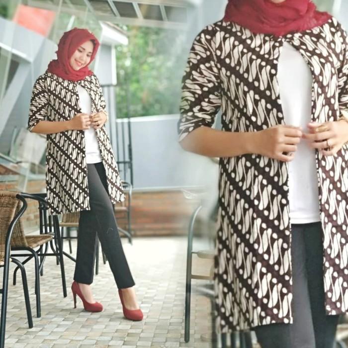 Jual Model Batik Wanita Terbaru Jogja Blazer Soganan Putih Batik Kota Yogyakarta Grosirbatikhisyam Tokopedia