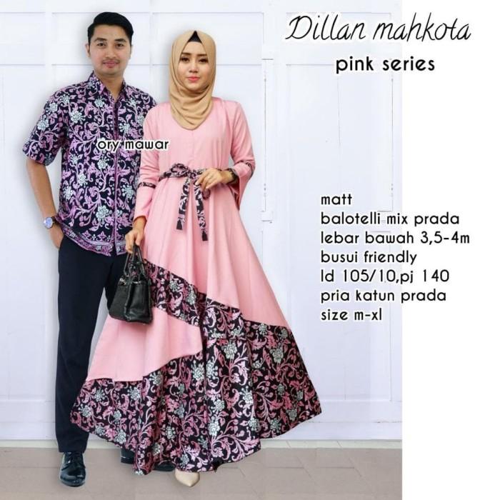 Jual Baju Batik Gamis Wanita Sarimbit Pesta Couple Muslim Keluarga