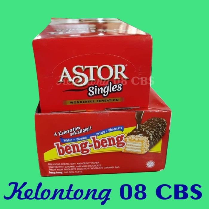 harga Paket snack wafer coklat beng beng per pak plus coklat astor per dus Tokopedia.com