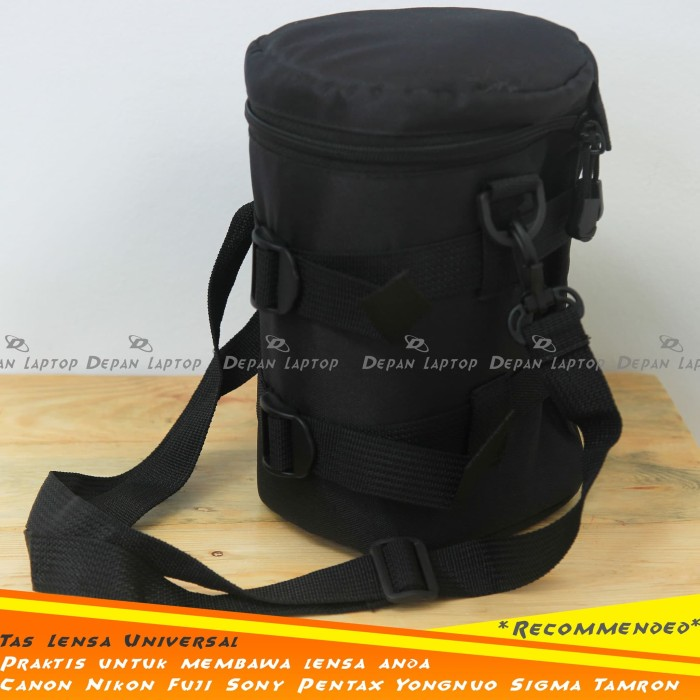 Tas Bag Lens Pouch Sarung Lensa Universal Tele Wide Fix Canon Nikon