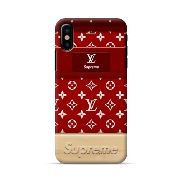 low priced 99c8e ed63b Jual supreme x louis vuitton case iphone x 6s 5s 7 8 samsung s9 s8 s7 a7 a8  - Jakarta Barat - monster_case | Tokopedia