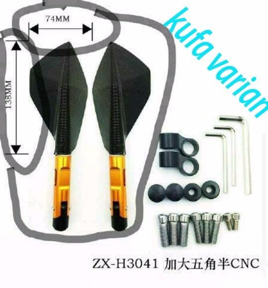 harga Spion tomok full cnc besar / v5 motor universal import berkualitas Tokopedia.com