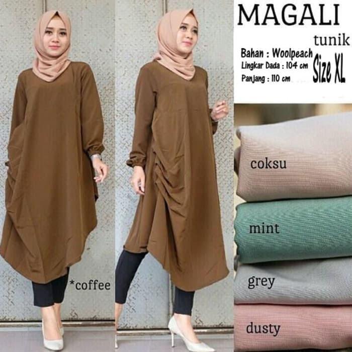 Jual Magali Tunik Blouse Model Baju Gamis Blus Atasan Wanita Muslim Terbaru Kab Sidoarjo Emtu Style Tokopedia