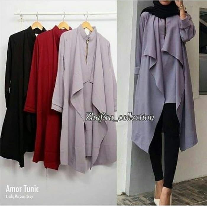 Jual Tunik Blouse Amor Tunic Model Baju Gamis Atasan Wanita Muslim Terbaru Kab Sidoarjo Emtu Style Tokopedia