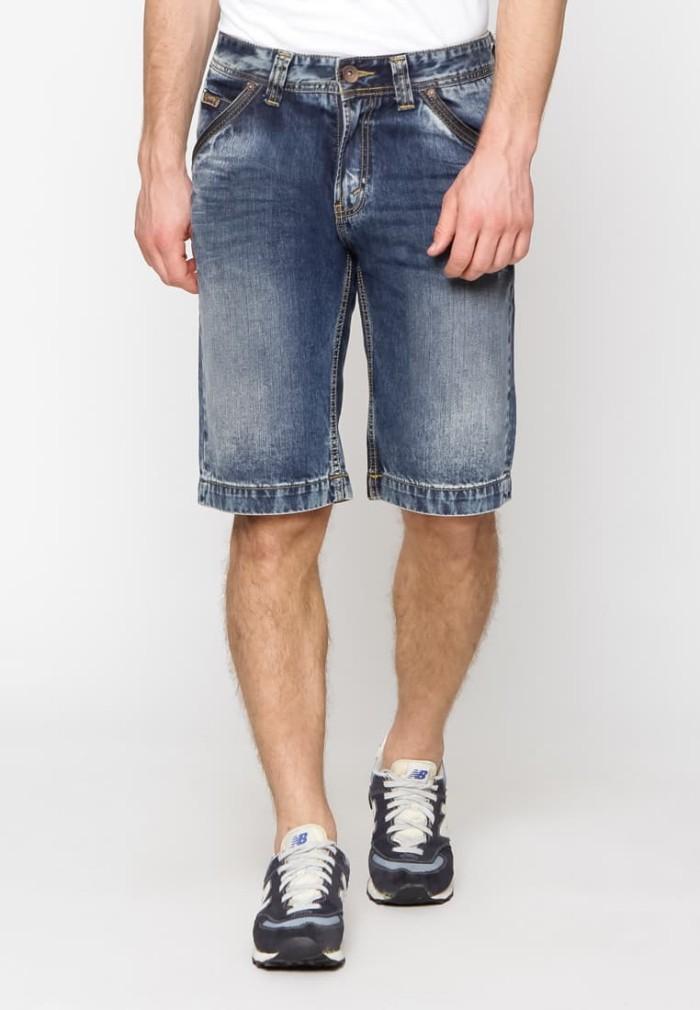 lois jeans original - celana pendek pria cfd285 - biru 28
