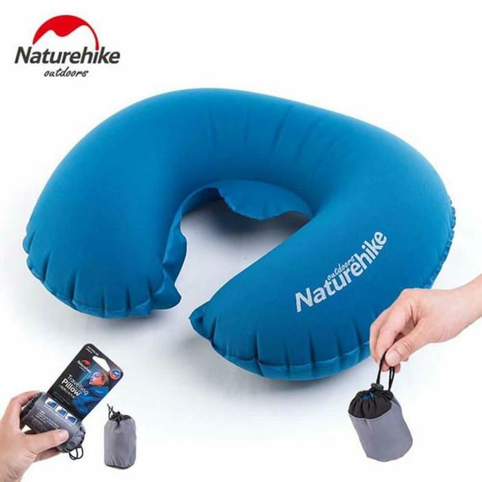 Bantal leher inflatable naturehike neck travell pillow praktis