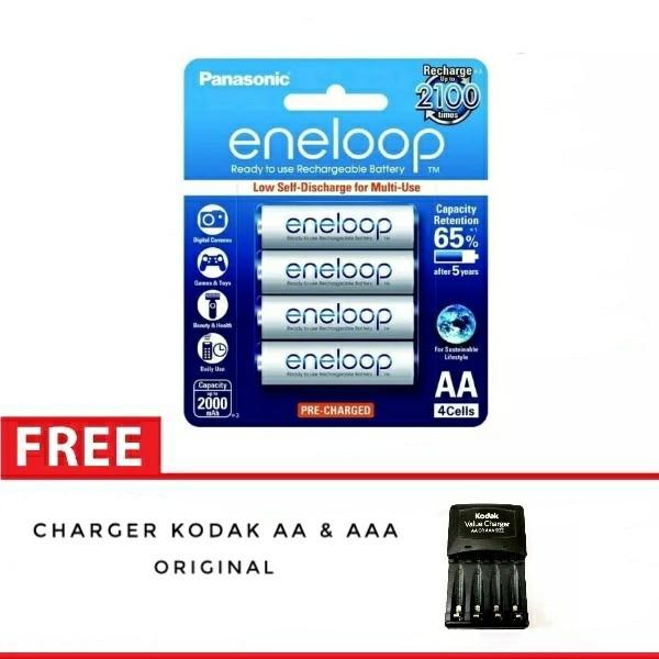 harga Baterai/batre panasonic eneloop aa isi 4 2000 mah free charger Tokopedia.com