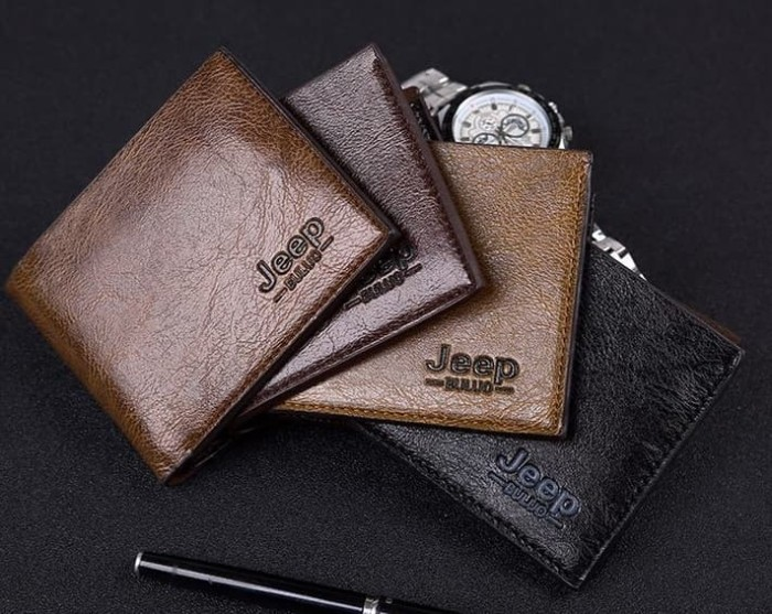 Foto Produk W02 Jeep Short Wallet / Dompet Pria - khaki dari Dneo Store