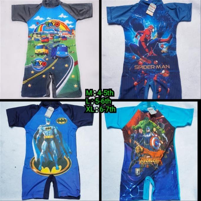 Jual Baju Renang Diving Anak Tk Cowok Laki Laki Karakter